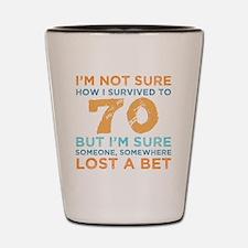 Mens 70 birthday Shot Glass