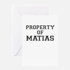 Property of MATIAS Greeting Cards