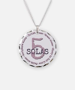 5 Solas Reformed Theology Necklace