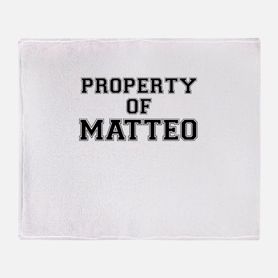 Property of MATTEO Throw Blanket