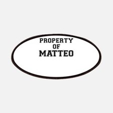 Property of MATTEO Patch