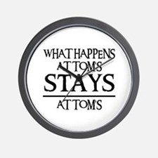STAY'S AT TOM'S Wall Clock