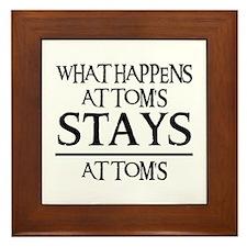 STAY'S AT TOM'S Framed Tile