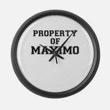 Property of MAXIMO Large Wall Clock