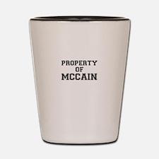 Property of MCCAIN Shot Glass
