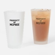 Property of MCPHEE Drinking Glass