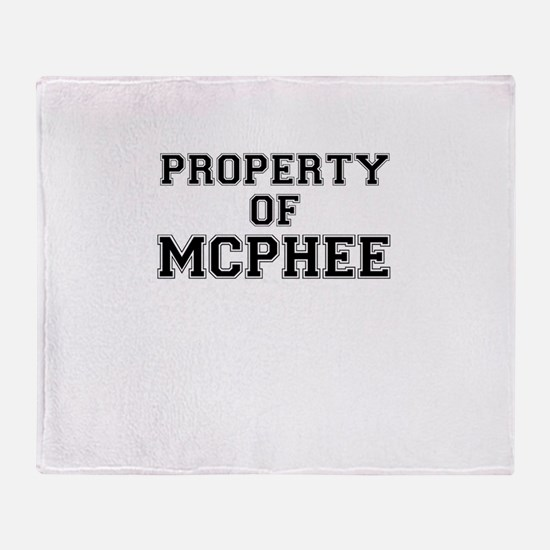Property of MCPHEE Throw Blanket