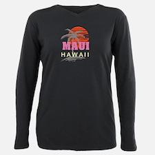 Funny Hawaiian Plus Size Long Sleeve Tee