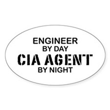 Engineer CIA Agent Oval Decal