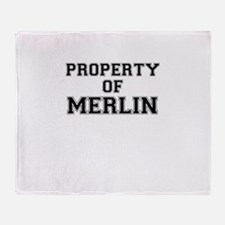 Property of MERLIN Throw Blanket