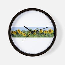Sunny Sunflower Row Wall Clock