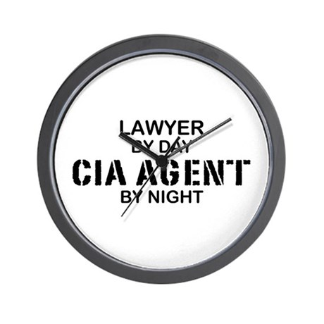 Lawyer CIA Agent Wall Clock