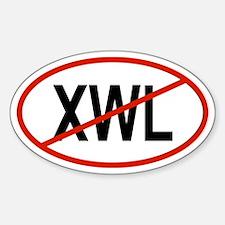 XWL Oval Decal