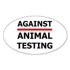 Against Testing by Leah Oval Decal