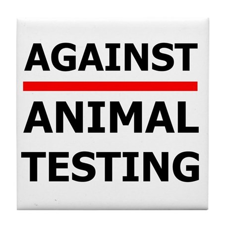 Against Testing by Leah Tile Coaster