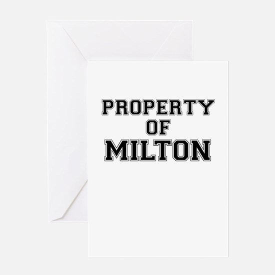 Property of MILTON Greeting Cards