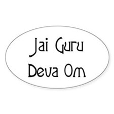 Jai Guru Deva Om Oval Decal
