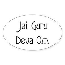 Jai Guru Deva Om Oval Decal
