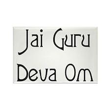 Jai Guru Deva Om Rectangle Magnet
