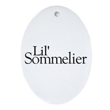 Lil' Sommelier Oval Ornament