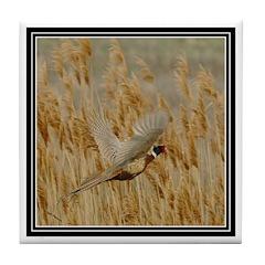 Pheasant Flight Tile Coaster