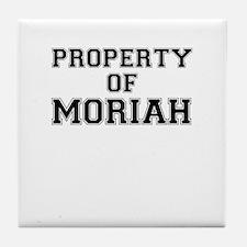 Property of MORIAH Tile Coaster