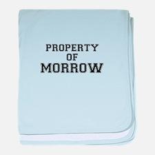 Property of MORROW baby blanket