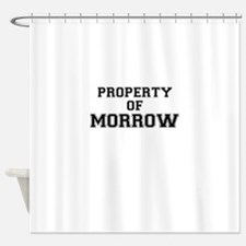 Property of MORROW Shower Curtain
