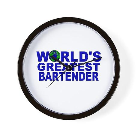 World's Greatest Bartender Wall Clock