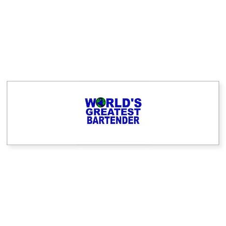 World's Greatest Bartender Bumper Sticker