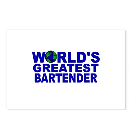 World's Greatest Bartender Postcards (Package of 8