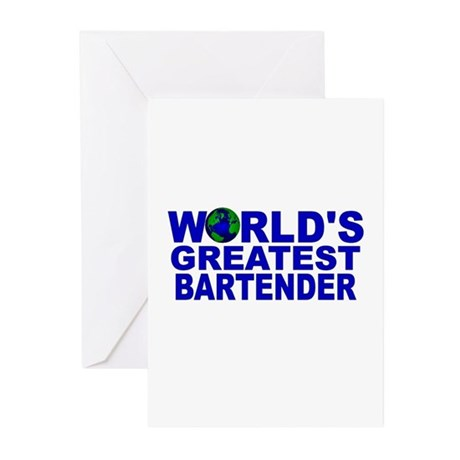 World's Greatest Bartender Greeting Cards (Pk of 1
