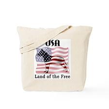 USA-Land of the Free Tote Bag