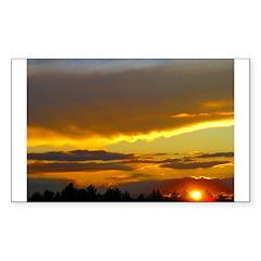 Sunset Sky Rectangle Decal