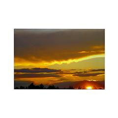 Sunset Sky Rectangle Magnet (100 pack)