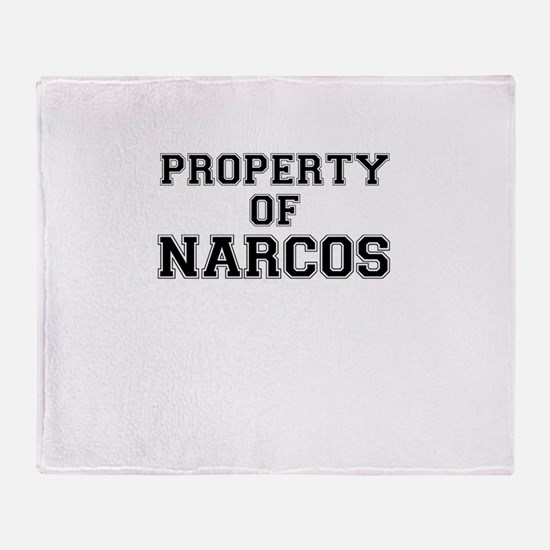 Property of NARCOS Throw Blanket