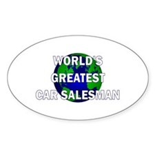 World's Greatest Car Salesman Oval Decal