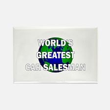 World's Greatest Car Salesman Rectangle Magnet