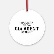 Mailman CIA Agent Ornament (Round)