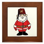 Santa The Shriner Framed Tile