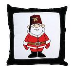 Santa The Shriner Throw Pillow