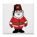 Santa The Shriner Tile Coaster