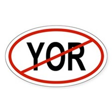 YOR Oval Decal