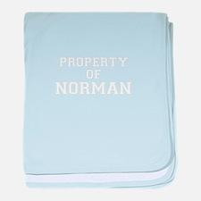 Property of NORMAN baby blanket