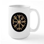Gold Viking Compass Disk Large Mug