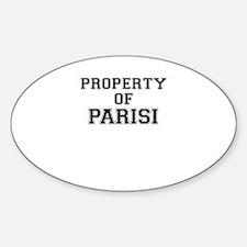 Property of PARISI Decal