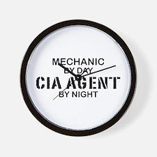 Mechanic CIA Agent Wall Clock