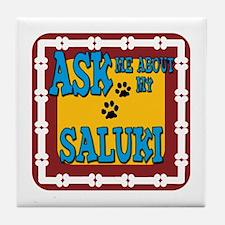 Saluki Tile Coaster
