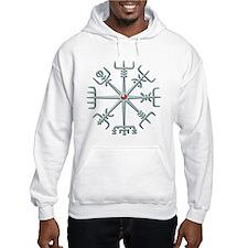 Silver Viking Compass Hoodie
