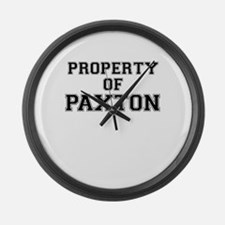 Property of PAXTON Large Wall Clock